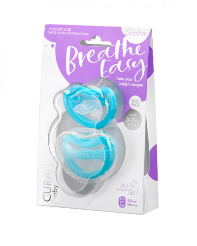 Baby Soother, blue, 3-7 kg, 2 pieces